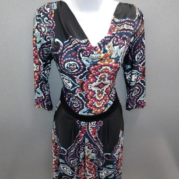 77a609d0dd 💜 long sleeve gypsy dress w/ pockets